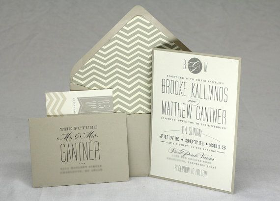 Hey, I found this really awesome Etsy listing at https://www.etsy.com/listing/130248262/chevron-wedding-invitation
