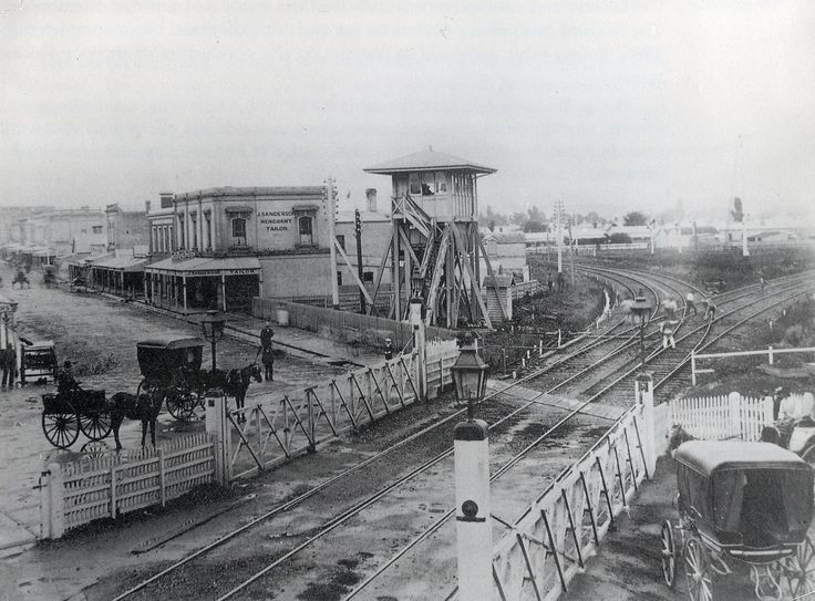 Swan Street rail crossing 1874, Richmond.