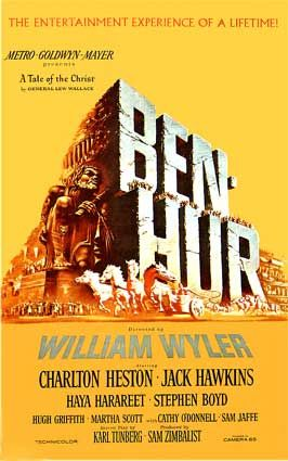 Ben-Hur (1959) is MGM's three and a half hour, wide-screen epic Technicolor blockbuster - a Biblical tale, subtitled A Tale of the Christ.