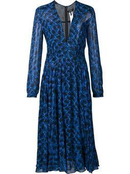 Vestido de seda estampado