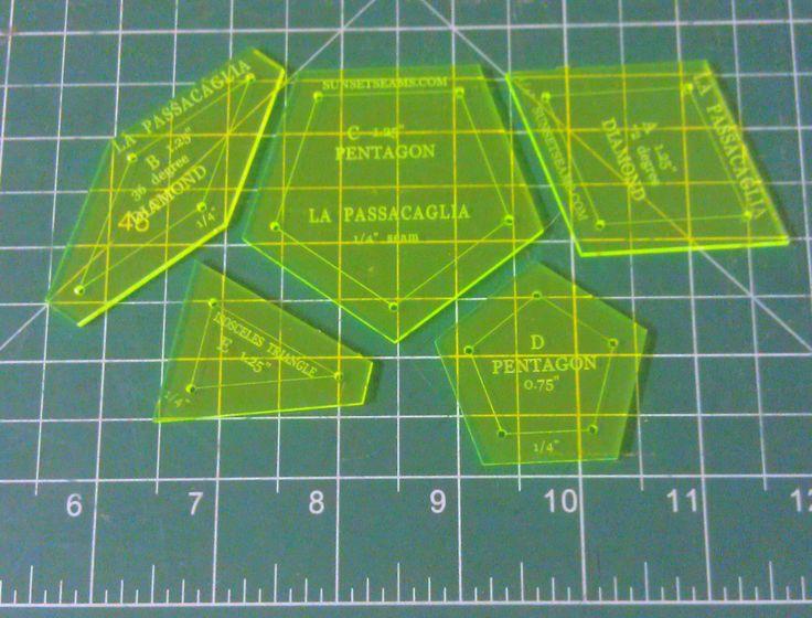 La Passacaglia 1/4 inch seam SOLID style 5 pieces by SunsetSeams