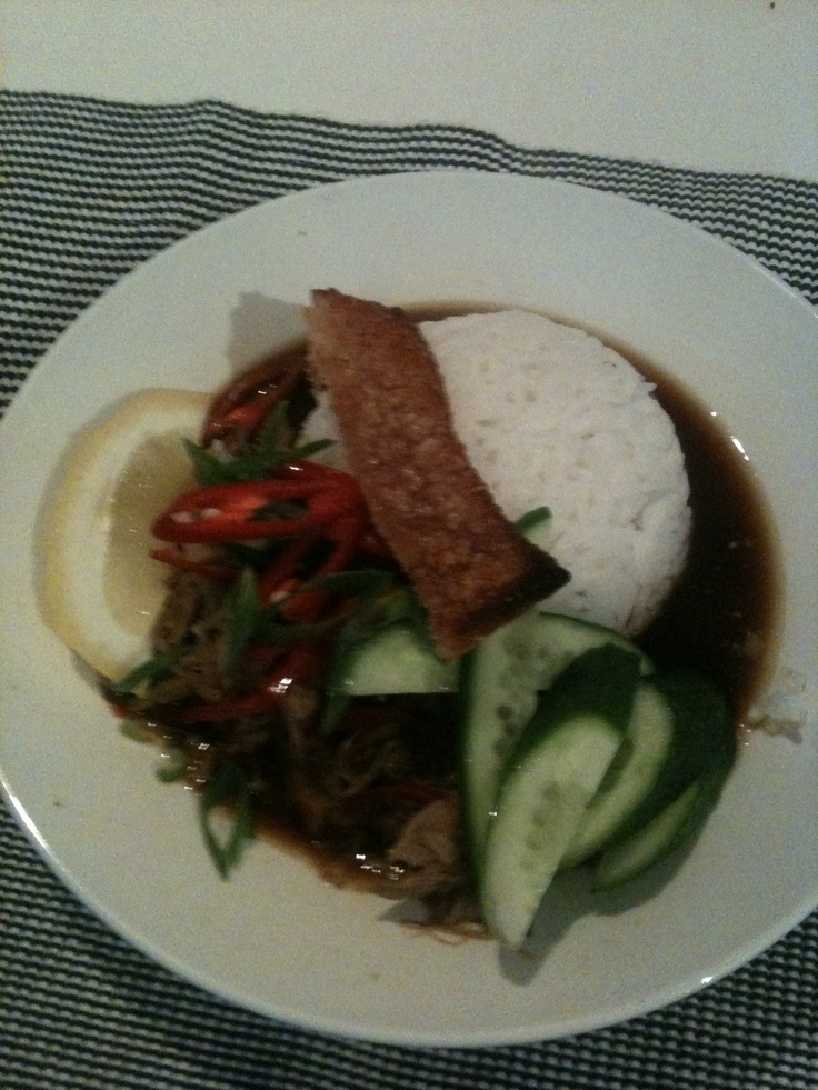 Braised asian pork belly