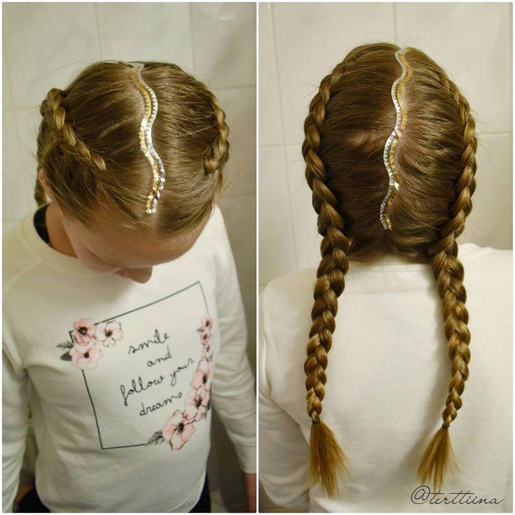 Dutch braids with hair tattoo! #dutchbraids #boxerbraids