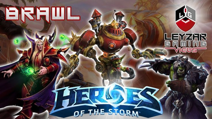 Heroes of the Storm (Brawl Gameplay) - Temple Arena Brawl (HotS Communit...