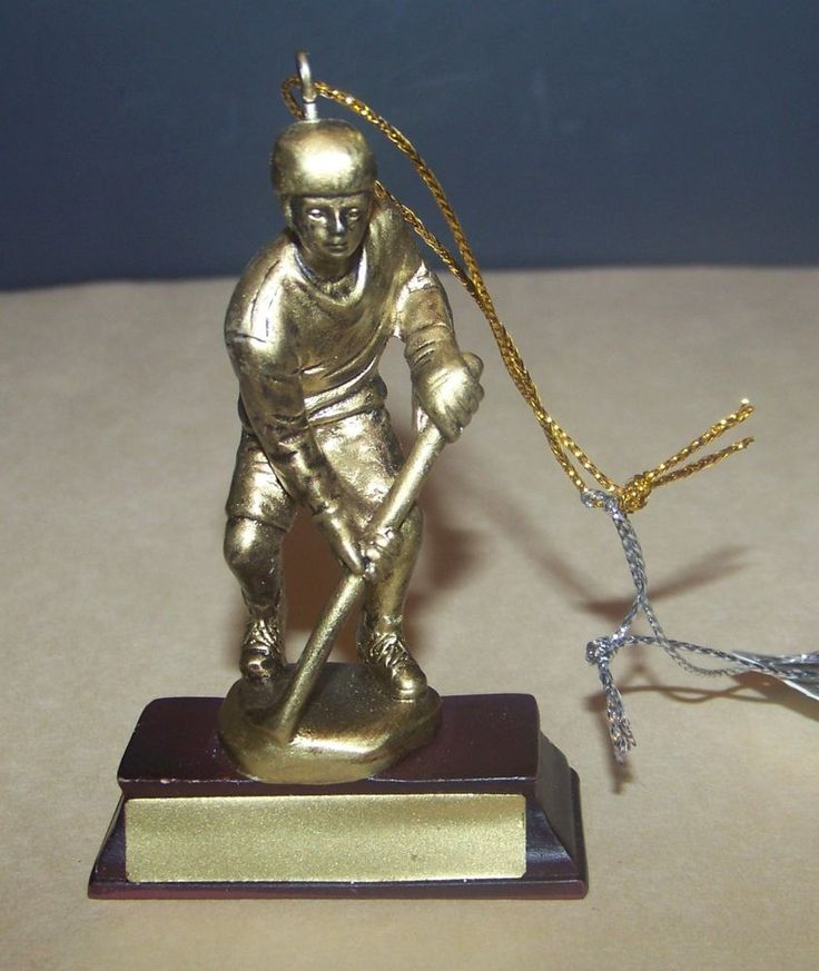 Lacrosse or Field Hockey Trophy Christmas Ornament Men Boys #MidwestCBK