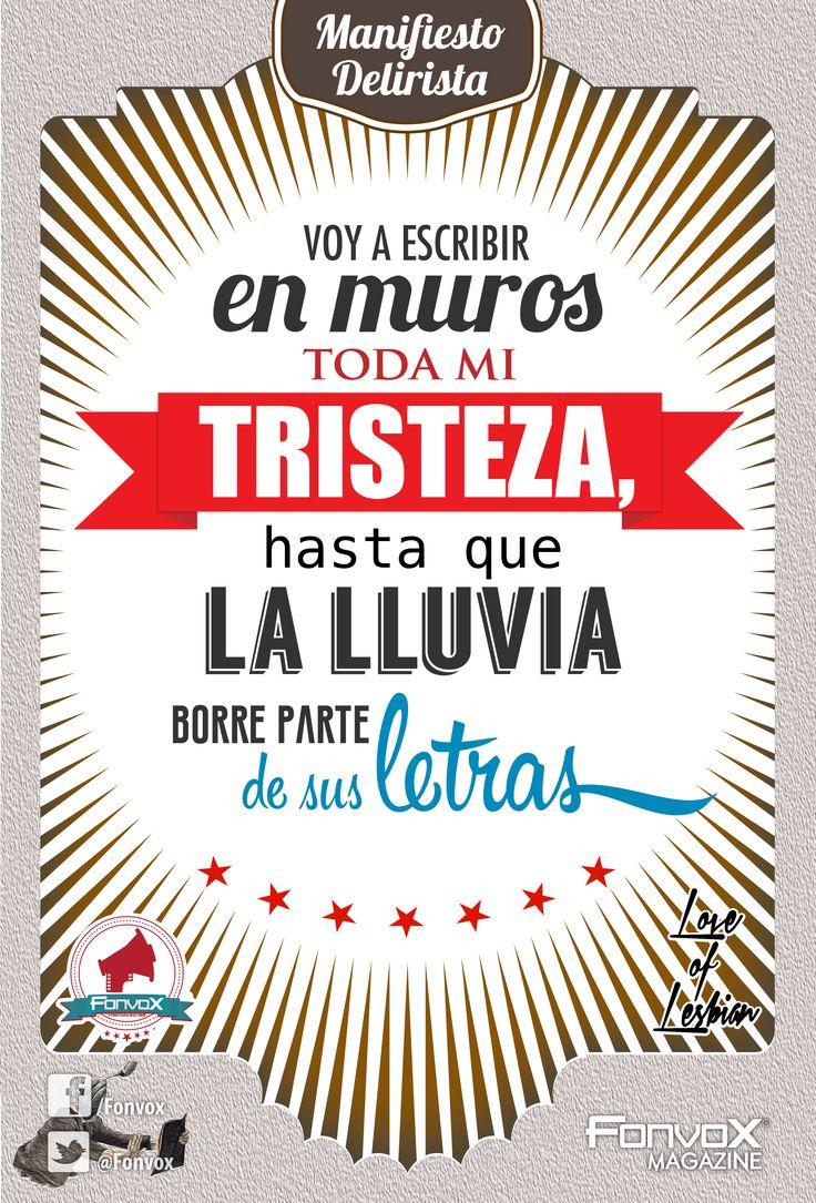Manifiesto Delirista - Love Of Lesbian Diseño: Julio C. Vox