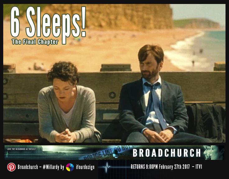 #Broadchurch 3 - The Final Chapter - 6 Sleeps until UK air date #Countdown