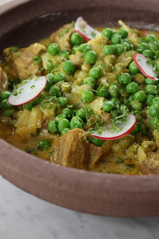 Lamb Tagine with Peas