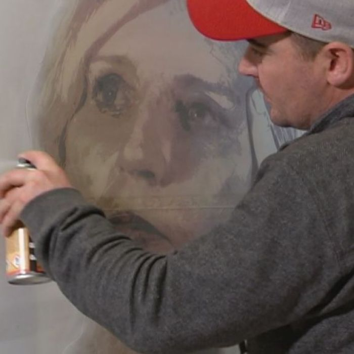 Follow the journey of stencil artist Luke Cornish, aka 'E.L.K', as he creates a portrait of Cate McGregor to enter into The Archibald Portrait Prize.