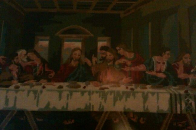 Last supper. Needlework