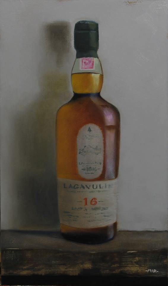 Still life lagavulin oil painting  marcandrerobert.ca