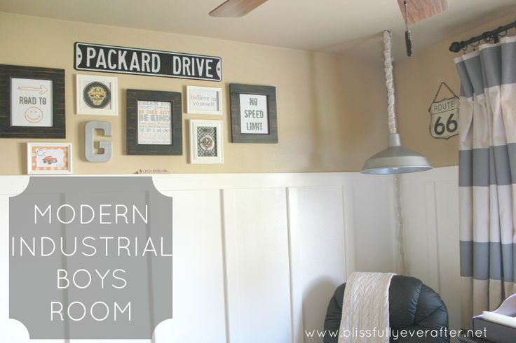 Blissfully Ever After: Modern Industrial Nursery {almost big boy's room}