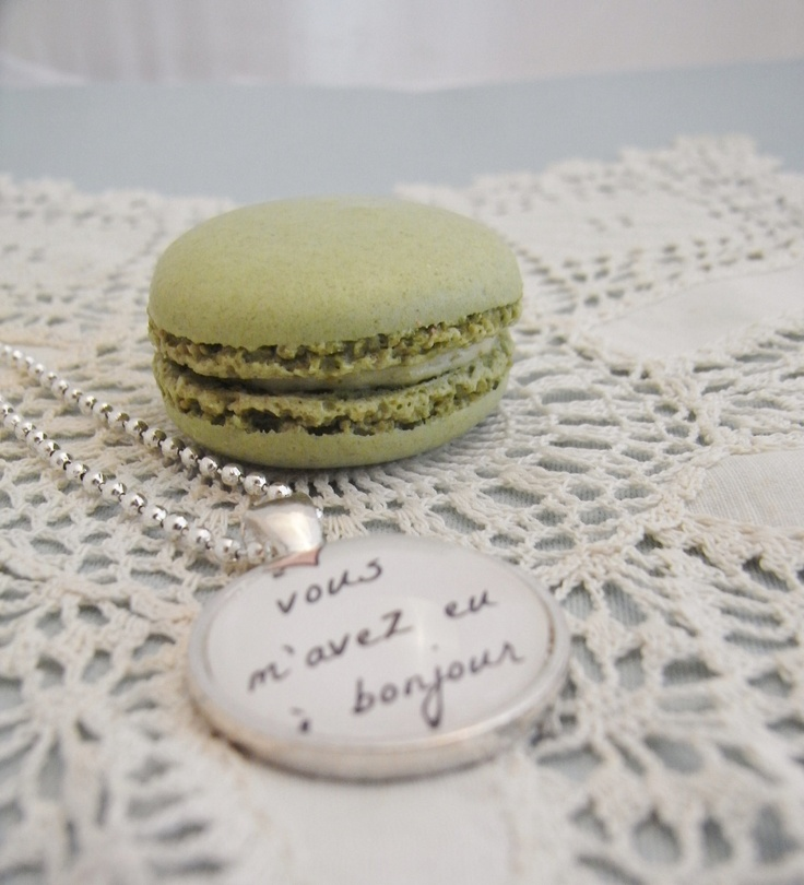 French quote pendant, you had me at hello, love, romance, romantic gift for her. $18.00, via Etsy.