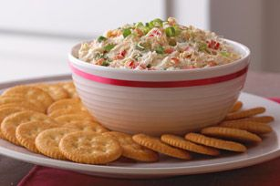 Creamy Crab and Red Pepper Spread recipe - AMAZING! sometimes I replace the Grey Poupon with Honey Mustard. Gives it a little sweeter taste, both ways are yummy!