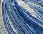 Fiber Content 79% Cotton, 21% Viscose, White, Brand Ice Yarns, Blue, Yarn Thickness 3 Light  DK, Light, Worsted, fnt2-45309