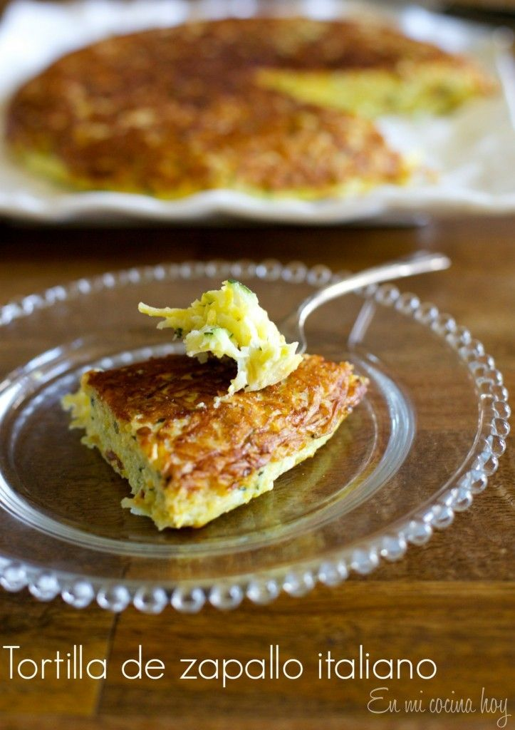 Tortilla de zapallitos italianos - En Mi Cocina Hoy
