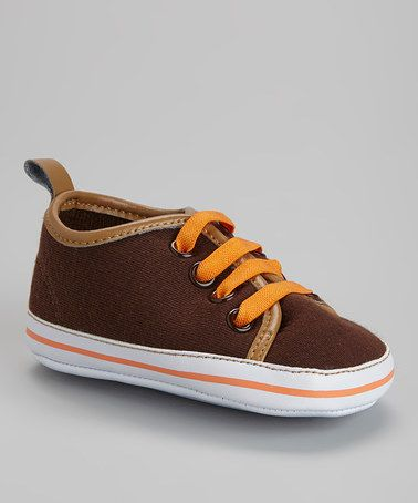 Look at this #zulilyfind! Chocolate & Orange Sneaker #zulilyfinds