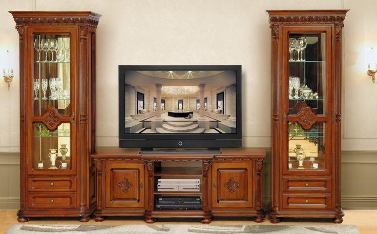 Mobila / Mobilier Living / Camera de zi clasic masiv Venetia lux - Veronese finisaj Nuc