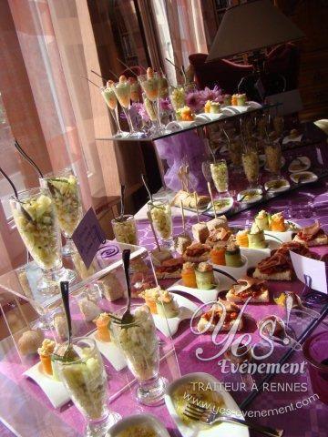 Buffet cocktail Yes-événement, traiteur à rennes.