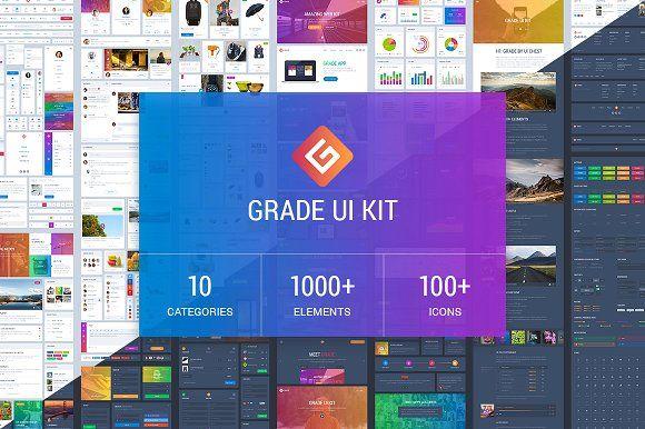 Grade UI Kit  by UI Chest on @creativemarket
