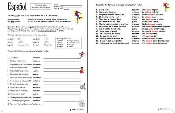 Printables of Worksheets English Espa%C3%83%C2%B1ol - Geotwitter ...