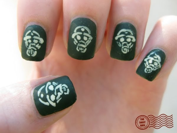 32 best slipknot images on pinterest nail art addiction and gas mask nails prinsesfo Image collections