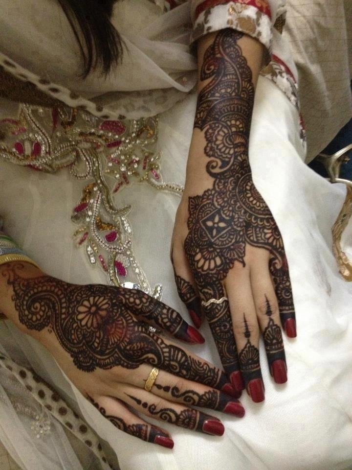 Bridal henna or mehndi designs