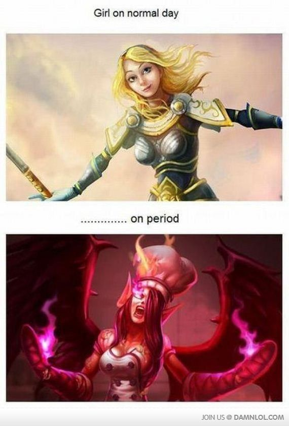 Girls On Their Period Vs A Normal Day