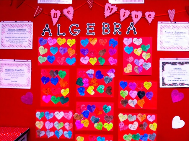 Fall in Love with Algebra Bulletin Board