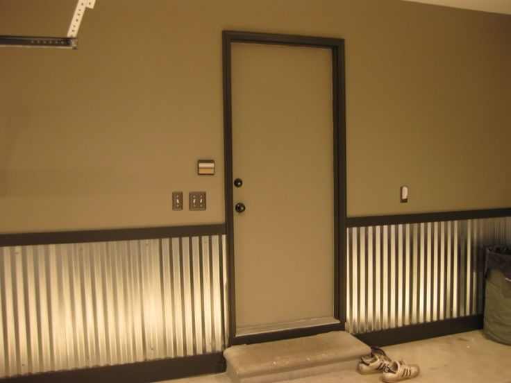 corrugated metal wainscoting images