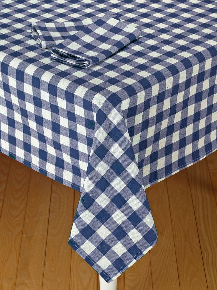 Tavern Style Checked Tablecloth Is Made With 100 Percent Cotton. This  Durable Table Cloth Is Perfect For Picnic Areas Or For Adding Bistro Charm  To Your ...