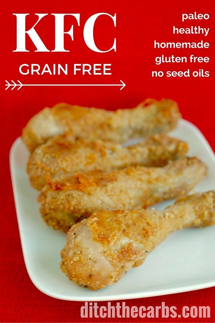 Homemade grain free KFC. It's also paleo, gluten free, and low carb. No processed oils here, just a few ingredients makes this magic version of my secret recipe. | http://ditchthecrabs.com