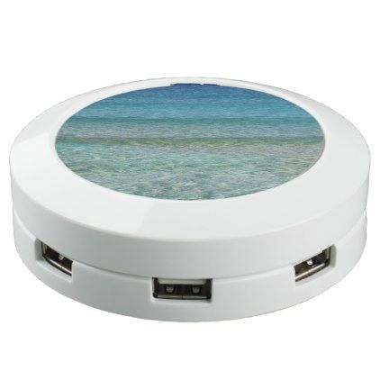 Beautiful Ocean Scene Green and Turquoise Water USB Charging Station - spring gifts beautiful diy spring time new year