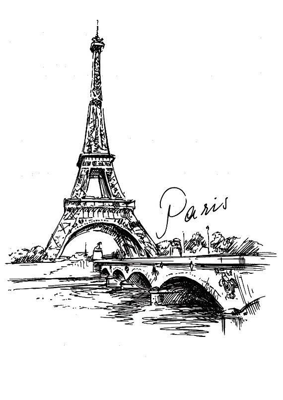 профессиональная графика рисунки черно белые париж эфрон