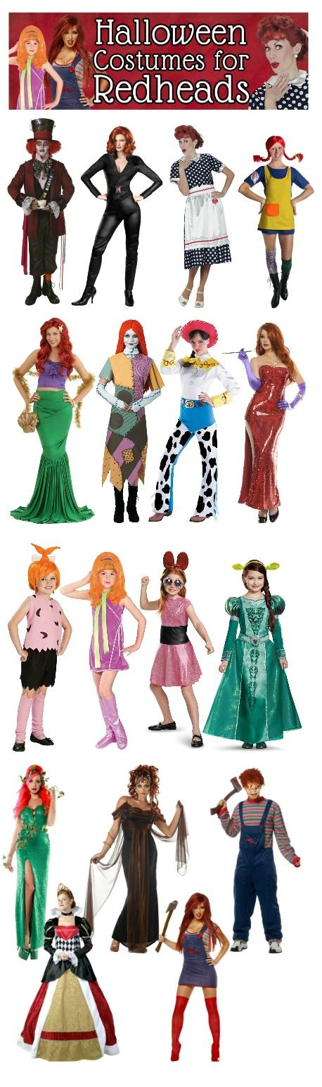 Halloween Costume Ideas for Redheads - there's more to a ginger's life than dressing up as Lucille Ball!