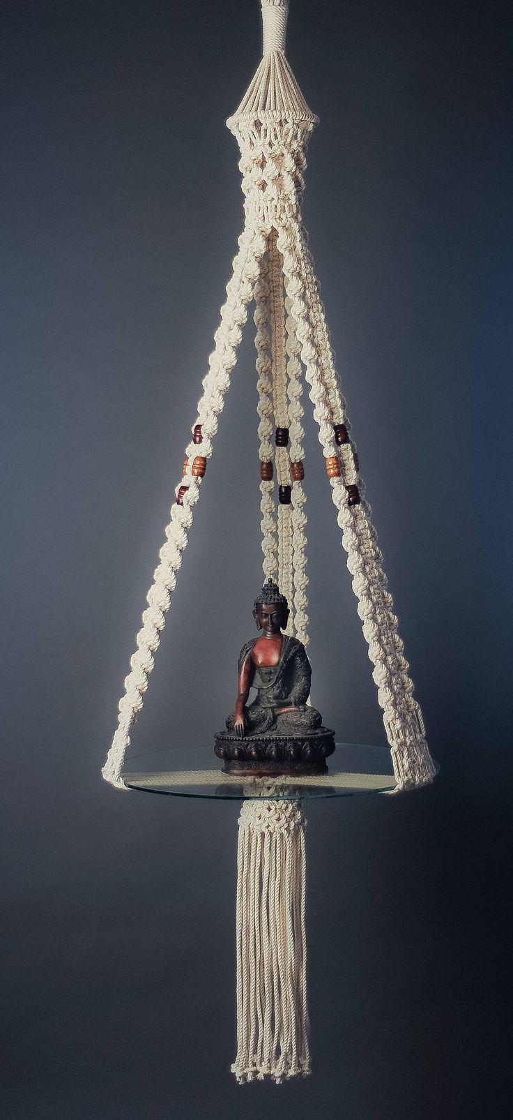 Serenity – Macrame Hanging Shelf – 5.5 ft