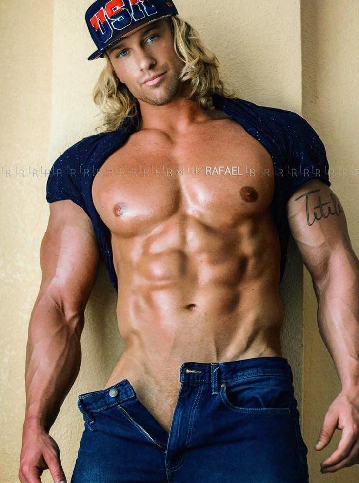 blonde long hair muscled gay porn