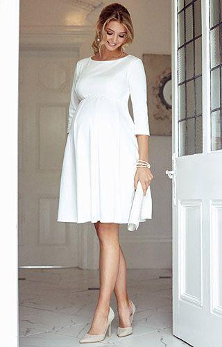 572e6f91a547 Sienna Maternity Dress Short Cream - Maternity Wedding Dresses