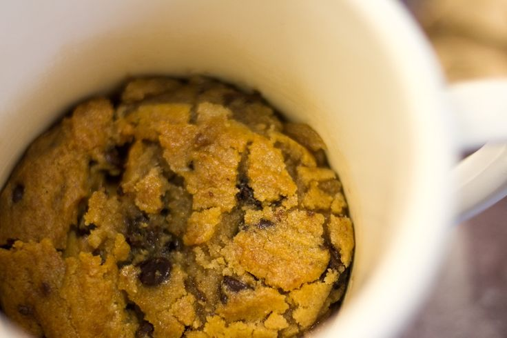Microwave Chocolate Chip Cookie in a Cup