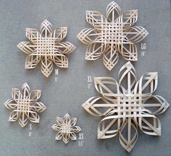 woven snow flakes!