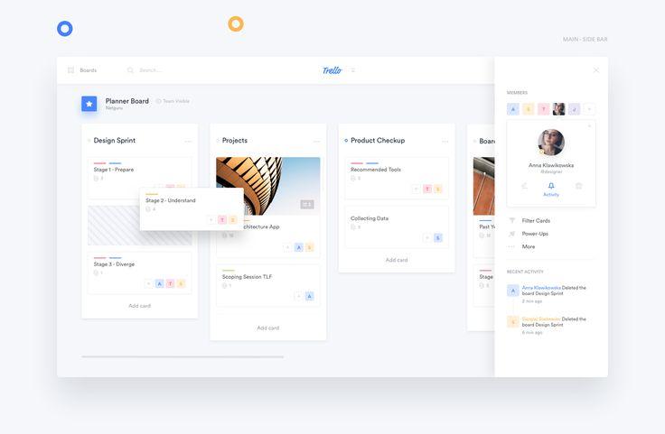 Trello Atlassian - Redesign on Behance