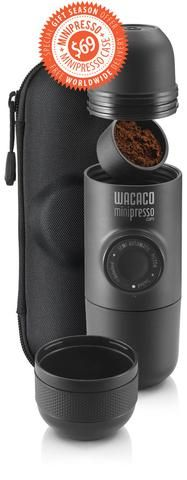 DESCRIPTION Minipresso GR is the perfect portable espresso machine. Compact, lightweight and versatile, you are free to use any coffeebeans, which will give yo