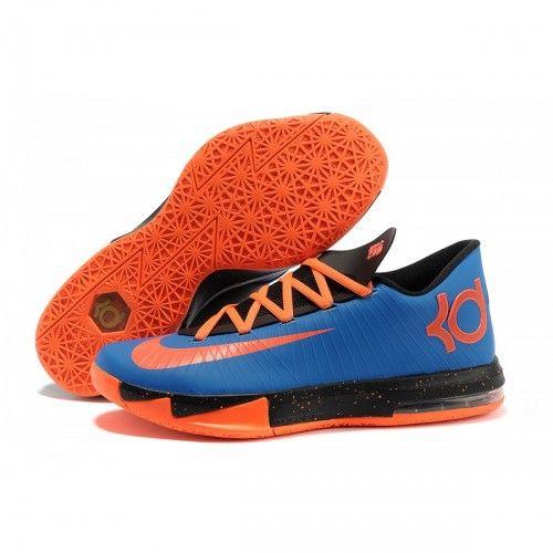 Nike Zoom KD Kevin Durant 6 Shoes For Sale Blue Orange