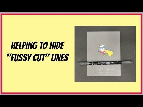 Quick Crafting Tip - Helping to Hide Fussy Cut Lines Stampin' Up!, card, paper, craft, scrapbook, rubber stamp, hobby, how to, DIY, handmade, Live with Lisa, Lisa's Stamp Studio, Lisa Curcio, http://www.lisasstampstudio.com