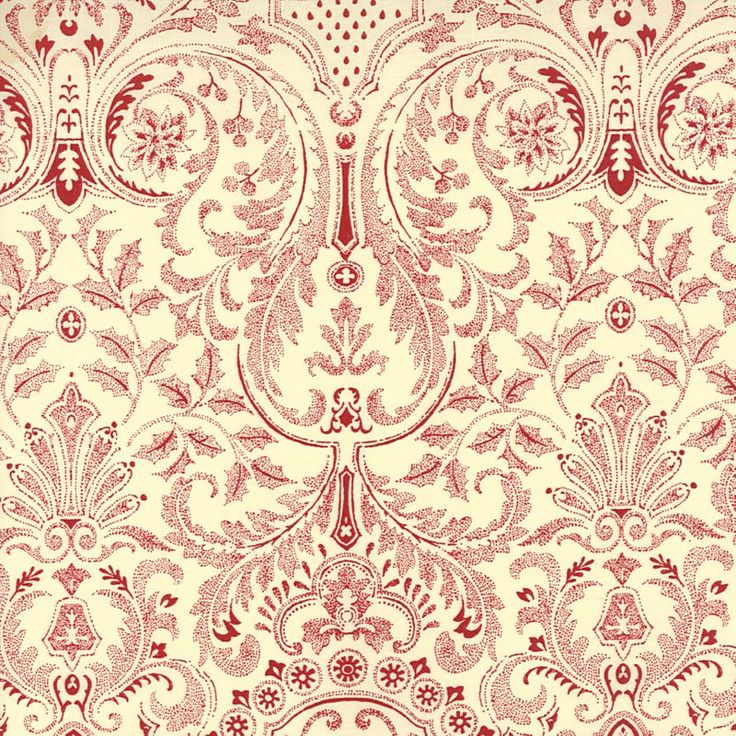 Mda Swiss Holiday Classic Wallpaper Toile In Red On
