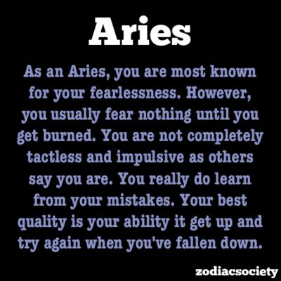 When they get burned, Aries shies away.