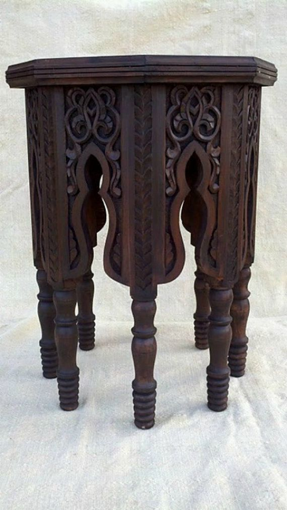 hand-carved moroccan table