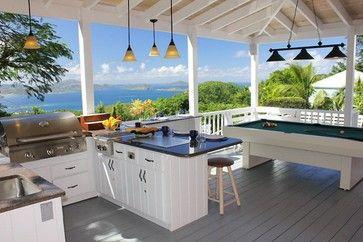 CND teppanyaki built into outdoor kitchen at coconutsvilla.com, St. John USVI, model MO-61