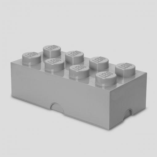 4004 LEGO Storage Brick 8_medium stone grey