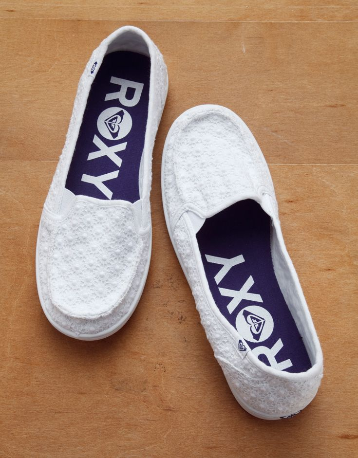 White ROXY slip-on shoes are light-weight and neutral to match any outfit. #roxy #springbreak #gordmans